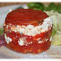 Millefeuille tomate féta