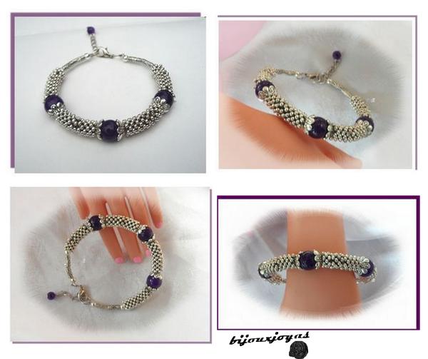 Bracelet_Ethnique__Rolling__3_Perles_Jade_Purple_10_mm_Argent_du_Tibet