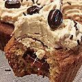 Cupcake noisette et coeur caramel au beurre salé et sa crème pralinée.