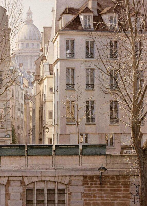 thiery duval la rue de bievre et le pantheon