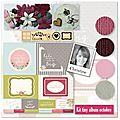 Kit tiny album d'octobre de christine