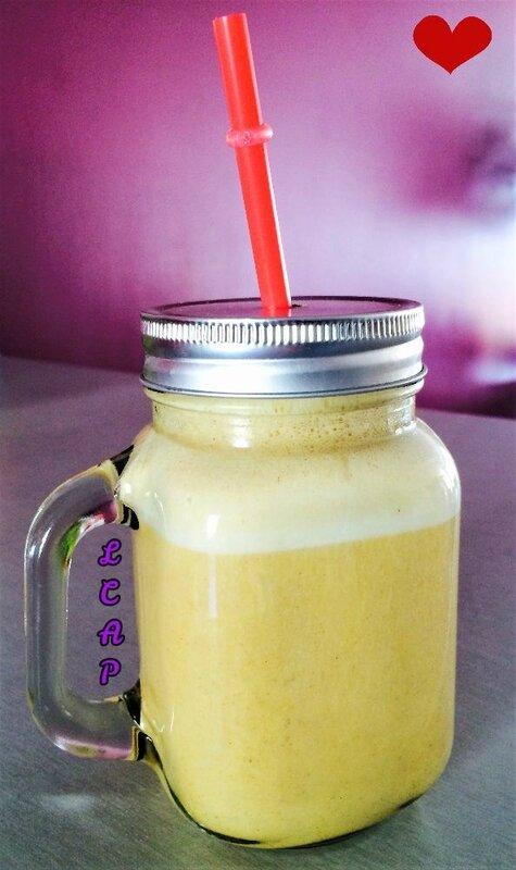 la cuisine danna purple- smoothie banane miel et pollen 3