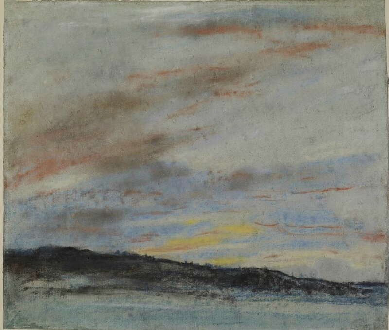 Eugène Delacroix, 'Study of the sky at sunset', 1849-1850
