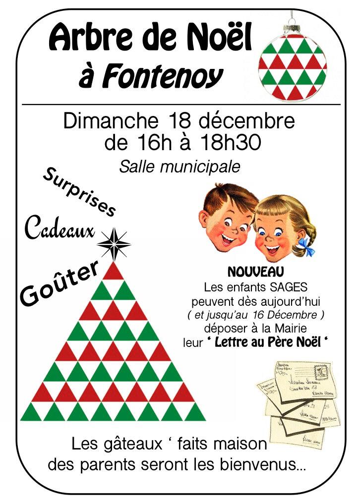 Dimanche 18 Décembre, Le Père Noël viendra à Fontenoy ...