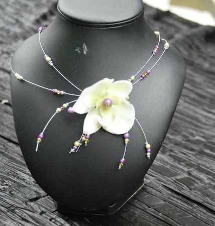 collier orchidée proposition pour Céline