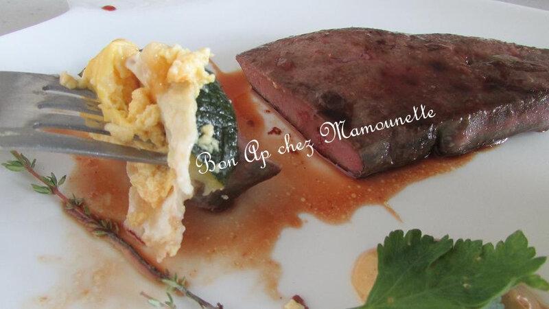 Foie de veau miellé et courgettes au brillat savarin 020-