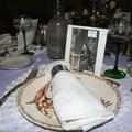 Les menus sont une photo du mariage de ma GM
