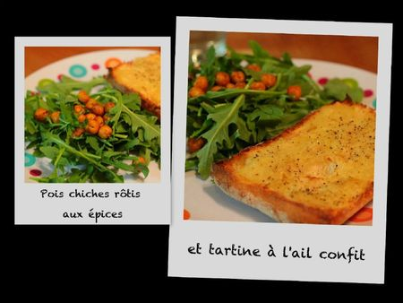 Pois chiches et tartine