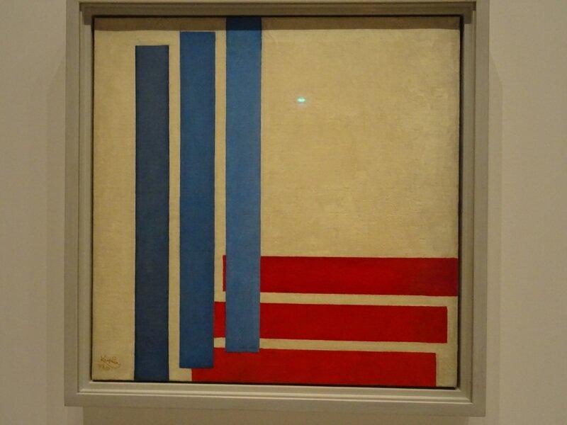 Kupka Trois bleus et trois rouges 1957