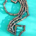 Chaine de vélo composition artistique Déchet métal - Création Récupération Recyclage