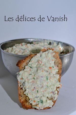 fromage frais - rillettes crabe - citron - ciboulette