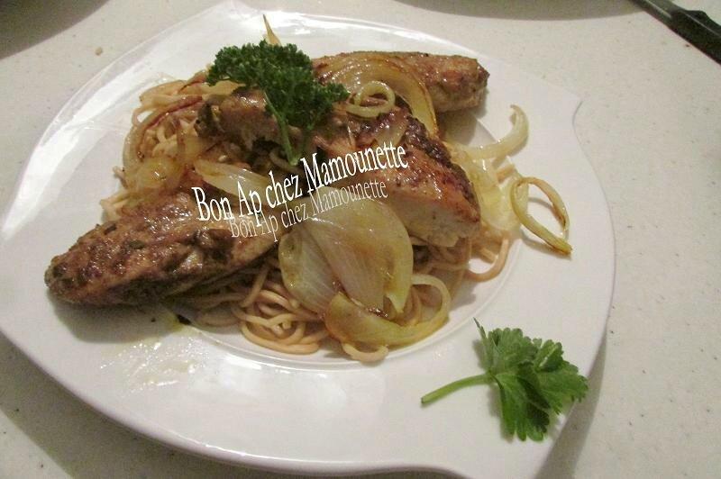 Filets de poulet fermier au massalé et ses pâtes asiatiques 005