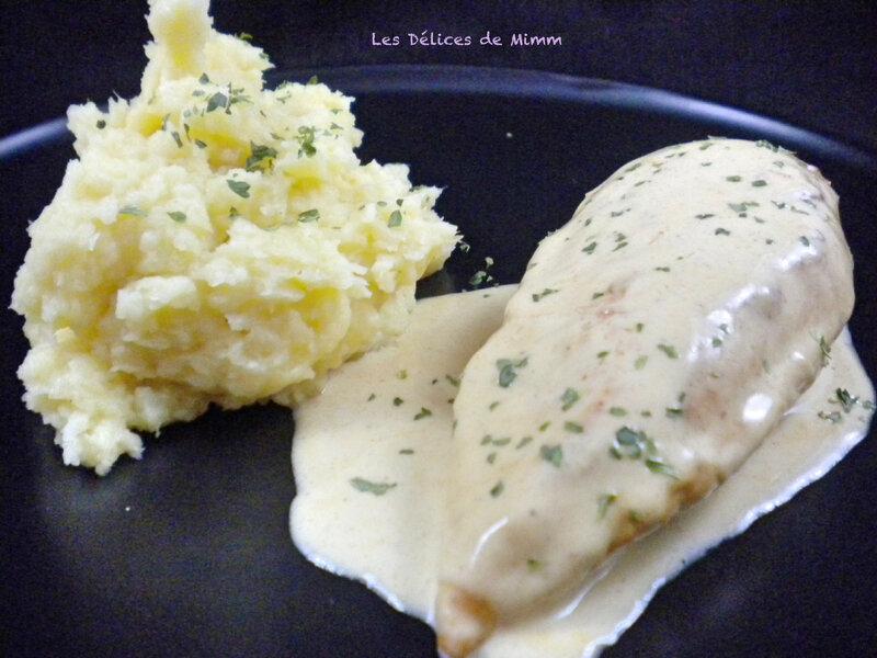 Filet de poulet à la moutarde et purée de panais 4