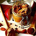 Glace végétale à la poire, crème d'amande et chicorée / toppings amandes caramélisées et pépites de cacao