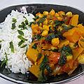 Curry végétarien aux pois chiches
