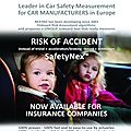 Safetynex by nexyad : measurement of risk of accident for actuaries (insurance companies)