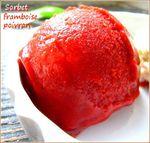 sorbet framboise poivron avec texte