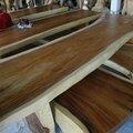 Bois massif bois plaques de table tranches