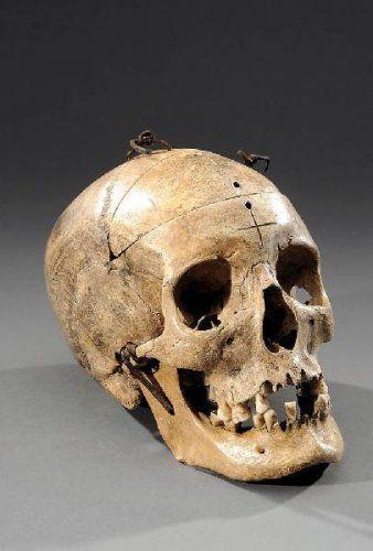 Crâne d'étude, à machoires articulée et calotte cranienne découpée. photo Aguttes Lyon