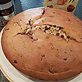 Gâteau moelleux pépites de chocolat et parfum cacahuète
