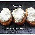 Tzatziki comme en crête