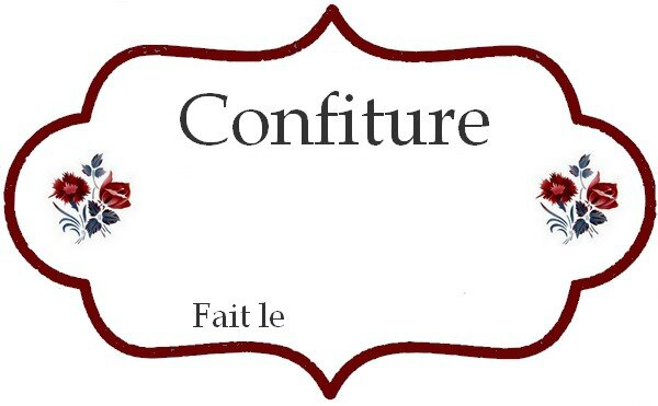 Etiquette digoin pour confiture 1