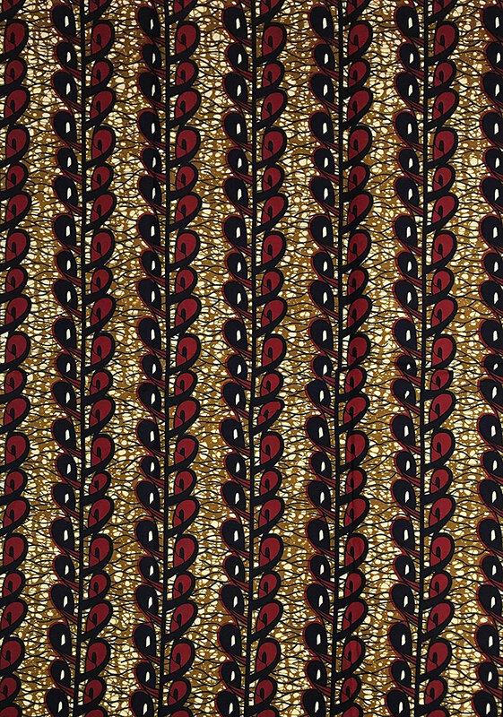 REAL Wax Tissu PAGNE Africain Cire Toile imprimé Coupon 6 Yards matière 100% Coton