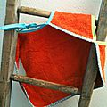 bavoir ORANGE _aurele_ 4 DOS