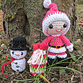 Test crochet - felton in santa costume...