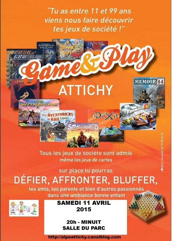 Affiche Game & play3 AVRIL 2015