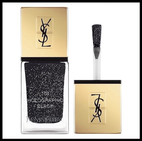 yves saint laurent vernis a ongles holographic black 1