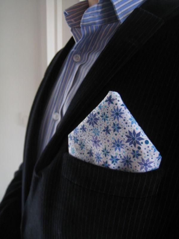 pochette liberty bleu