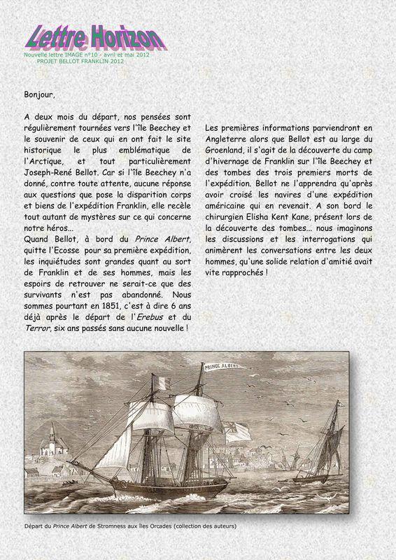 Lettre n° 10 - page 1