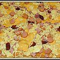 Pizza hot dog et croute au gouda