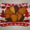 Biscuits d'amour miel et chocolat