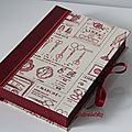trousse couture beige-rouge