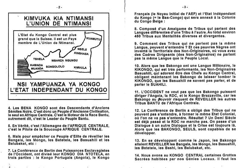 INTERDICTION AUX NON-ORIGINAIRES DU KONGO CENTRAL DE VISITER CERTAINES GROTTES HABITEES PAR NOS GENIES LOCAUX b
