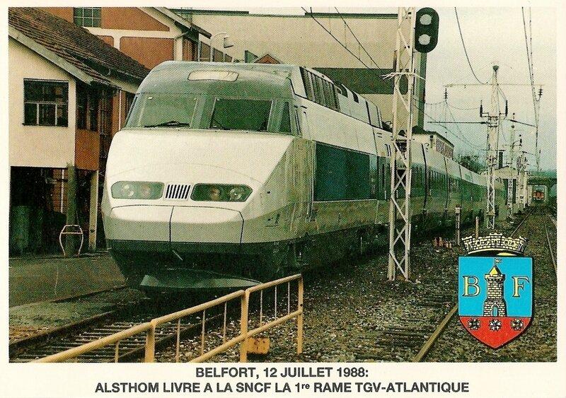 CPM TGV Atlantique Alsthom 1988 R