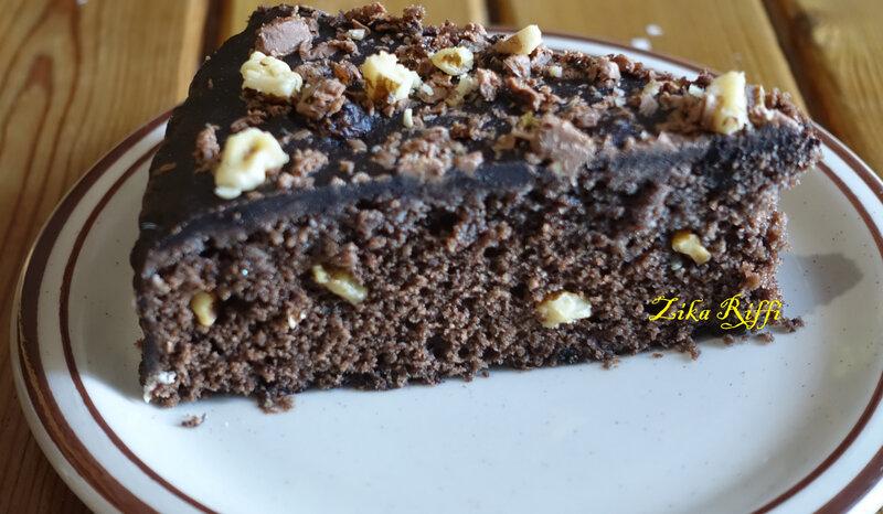 gâteau gitan noix chocolat caramel