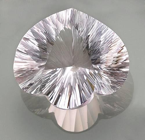 Fancy-cut Near-Colorless Quartz