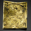 A 15th century gold pendant is to be offered for sale at sotheby's london
