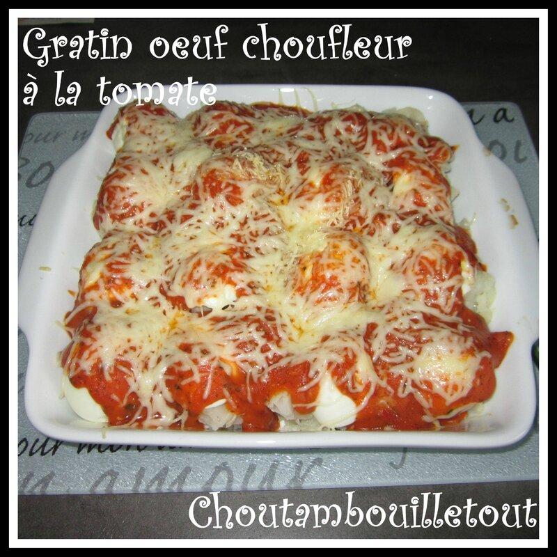 choufleur oeuf tomate