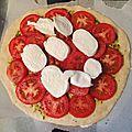 Ma pizza maison et sa version + légère !