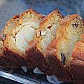 Cake aux pommes golden du limousin, noix de l'ardeche et miel au citron