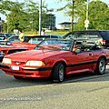 Ford mustang III convertible(Rencard Burger King septembre 2011) 01