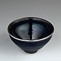 A rare yuteki tenmoku 'oil spot' Jian tea bowl, Southern Song dynasty