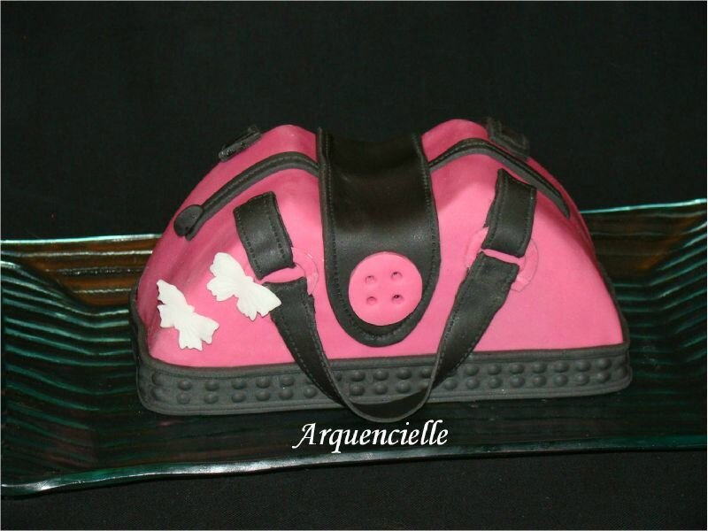 Gâteau sac à main girly