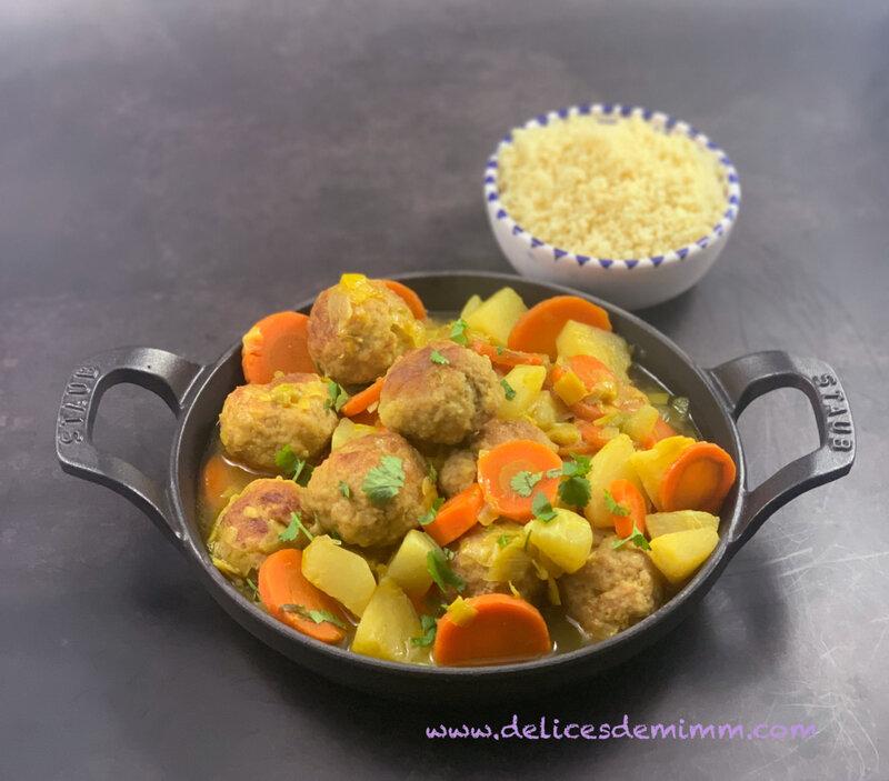 Tajine de légumes d'hiver aux boulettes caramélisées 4