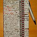 Carnet écriture