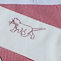 porte serviette chat